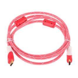 Кабель аудио-видео HDMI (m)/HDMI (m) 1.8м. феррит.кольца Позолоченные контакты красный