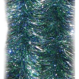 Мишура разноцветная, зелено-синяя, блестящая, 100 мм, длина 2 м