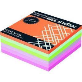 Бумага с липким слоем Index 300 листов 76х75 мм многоцветный РАДУГА I443810