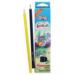 Набор цветных карандашей Koh-i-Noor Птицы 6 шт односторонние 3551/6 2 KS 3551/6 2 KS