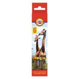Набор цветных карандашей Koh-i-Noor Животные 6 шт односторонние 3551/6 8 KS 3551/6 8 KS