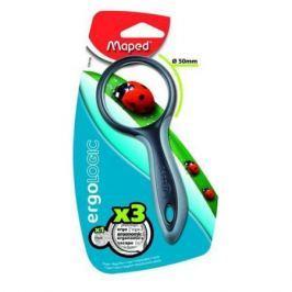 Лупа ERGOLOGIC 3х- кратная, эргономичная обрезиненная ручка,50мм
