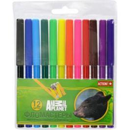 Набор фломастеров Action! ANIMAL PLANET, 18 цветов, PVC c е/подвесом AP-AWP129-12