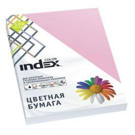 Бумага цветная Index Color, 100 листов, А4, розовый IC25/100