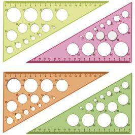 Треугольник СТАММ ТК11, с окружностями, цветной, прозрачный 30*, 19 см