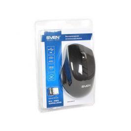 Беспроводная мышь SVEN RX-325 Wireless черная, 4 клавиши, эргономичная форма, блистер