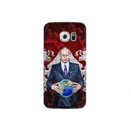 Чехол Deppa Art Case и защитная пленка для Samsung Galaxy S6 edge, Person_Путин карта мира,