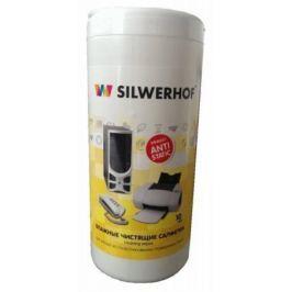 Чистящие салфетки влажные Silwerhof Plastic Clean для пласт.поверхностей компьютера/оргтехники 10шт
