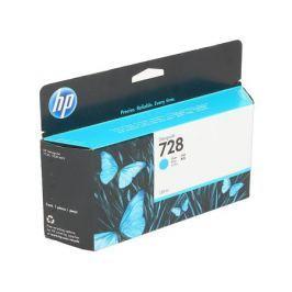 Картридж HP F9J67A (HP 728) для DesignJet T730, T830. Голубой. 130 мл.