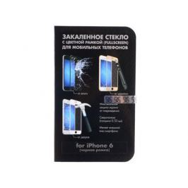 Защитное стекло для Apple iPhone 6 с цветной рамкой DFiColor-03(Black)