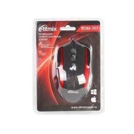 Мышь Ritmix ROM-307 Black\Red USB проводная, оптическая, 2400 dpi, 5 кнопок + колесо