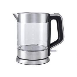 Чайник электрический Kitfort КТ-617 1.5л. 2000 Вт серебристый/черный (корпус: нержавеющая сталь/стекло)