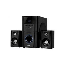 Колонки BBK CA-217S 2.1 Black 2x25 + 50 Вт, 20-20000 Гц, пульт ДУ, RCA, SD, mini Jack, MDF, USB, 220V