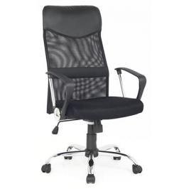 Кресло руководителя COLLEGE H-935L-2, черное ткань, сетчатый акрил, 120 кг, крестовина хромированный металл, подлокотники черный пластик. (ШxГxВ), см 7