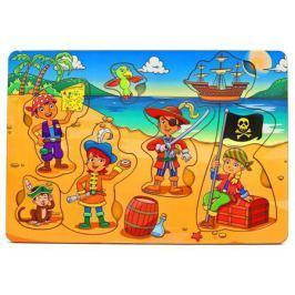 Пазл Wood Toys рамка-вкладка Дети-пираты