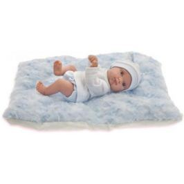 Кукла Munecas Antonio Juan Пепито мальчик, на голубом одеялке, 21 см 3903B
