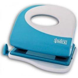 Дырокол Index Fusion 20 листов пластиковый корпус, серо-голубой/белый IFP705BU/WH