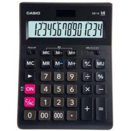 Калькулятор настольный CASIO GR-14-W-EP 14-разрядный черный