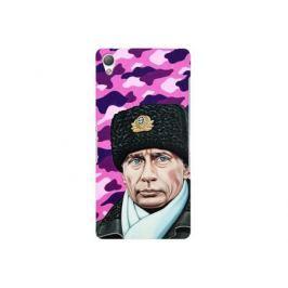 Чехол Deppa Art Case и защитная пленка для Sony Xperia Z3, Person_Путин шапка,