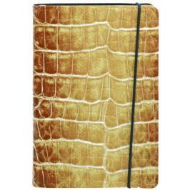 Записная книжка CROCO, гибкая обл., ф. А6, кожзам, нелин., тонир., ляссе, золот.срез, 192с, бежевая