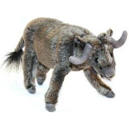 Мягкая игрушка бык Hansa 5418 16 см серый искусственный мех