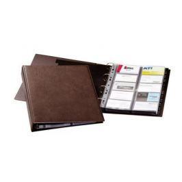Визитница Durable на 400 карт PVC коричневый 238411