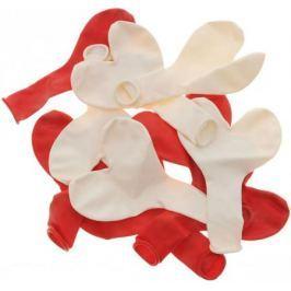 ШАРЫ ВОЗДУШНЫЕ сердечки,красные, белые 10шт