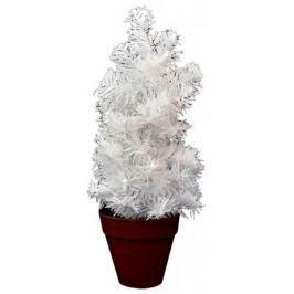 Елка декоративная, в горшке, 36 см, белая