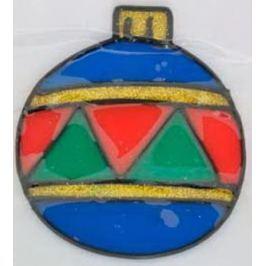 Наклейка декоративная на стекло НОВОГОДНЯЯ СКАЗКА, гелевая, 1 шт. в пакете, 9x12 см., 4 вида