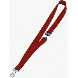 Шнур текстильный для бейджей Durable 44смx20мм с боковым замком и карабином с лого красный 10шт 8137