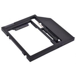 "Адаптер оптибей Espada SS90 (optibay, hdd caddy) SATA/miniSATA (SlimSATA) 9мм для подключения HDD/SSD 2,5"" к ноутбуку вместо DVD"