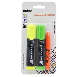 Набор маркеров Index IMH545/2/P 1 мм 3 шт разноцветный IMH545/2/P