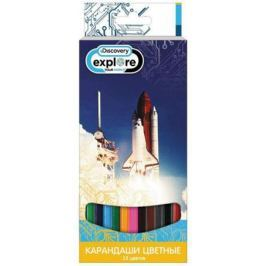 Набор цветных карандашей Action! Discovery 12 шт DV-ACP105-12