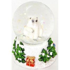 Водяной шар ПОЛЯРНЫЙ МИШКА, 4,5*7 см, полирезин, стекло