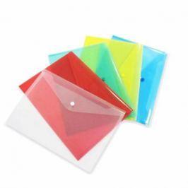 Папка-конверт с кнопкой, зеленая, A4, 180мкм КНК 180-А/З