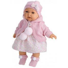 Кукла Munecas Antonio Juan Азалия в розовом 27 см мягкая говорящая смеющаяся 1220Р