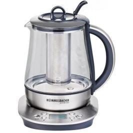 Чайник Rommelsbacher A 1400 1400 Вт 1.7 л стекло прозрачный металлик чёрный TA 1400