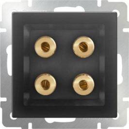 Акустическая розетка х4 серо-коричневая WL07-AUDIOx4 4690389059308