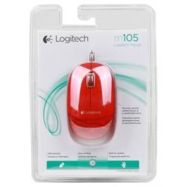 Мышь (910-003118) Logitech Mouse M105 Red