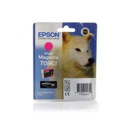 Картридж Epson C13T09634010 T0963 для Epson Stylus Photo R2880 Vivid Magenta пурпурный
