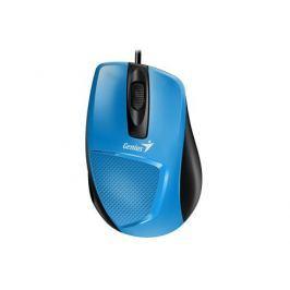 Мышь проводная Genius DX-150X голубой чёрный USB