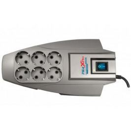 Сетевой фильтр ZIS Pilot X-Pro 6 розеток 1.8 м серый