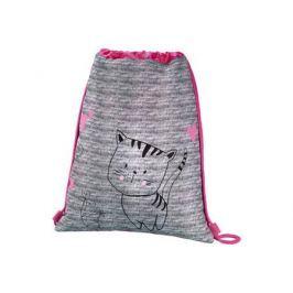Мешок для сменной обуви Hama Lovely cat серый/розовый 00139113