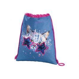 Мешок для сменной обуви Hama Crazy cat синий/розовый 00139112