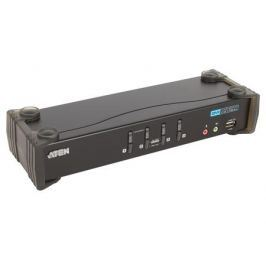 Переключатель ATEN KVM Switch CS1764A-AT-G 4-портовый USB 2.0 DVI KVMP-переключатель (KVM Switch)