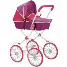 Кукольная коляска RT цвет фиолетовый+фуксия 603