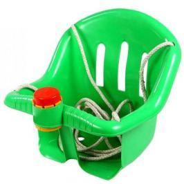 ОР757 Качели с барьером безопасности, с клаксоном зеленые 5261