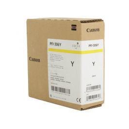 Картридж Canon PFI-306 Y для плоттера iPF8400SE/8400S/8400/9400S/9400. Жёлтый. 330 мл.