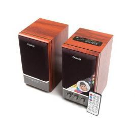 Колонки Dialog Disco AD-07 2.0, Brown (24 Вт, 20 - 20000 Гц, FM, пульт ДУ, mini Jack, USB, Micro SD, MDF, 220V)