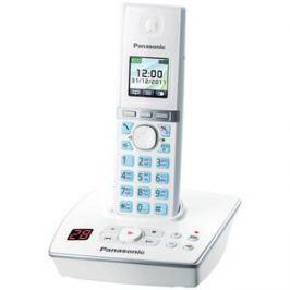 Телефон DECT Panasonic KX-TG8061RUW АОН, Color TFT, Caller ID 50, Спикерфон, Эко-режим, Радионяня, Автоответчик